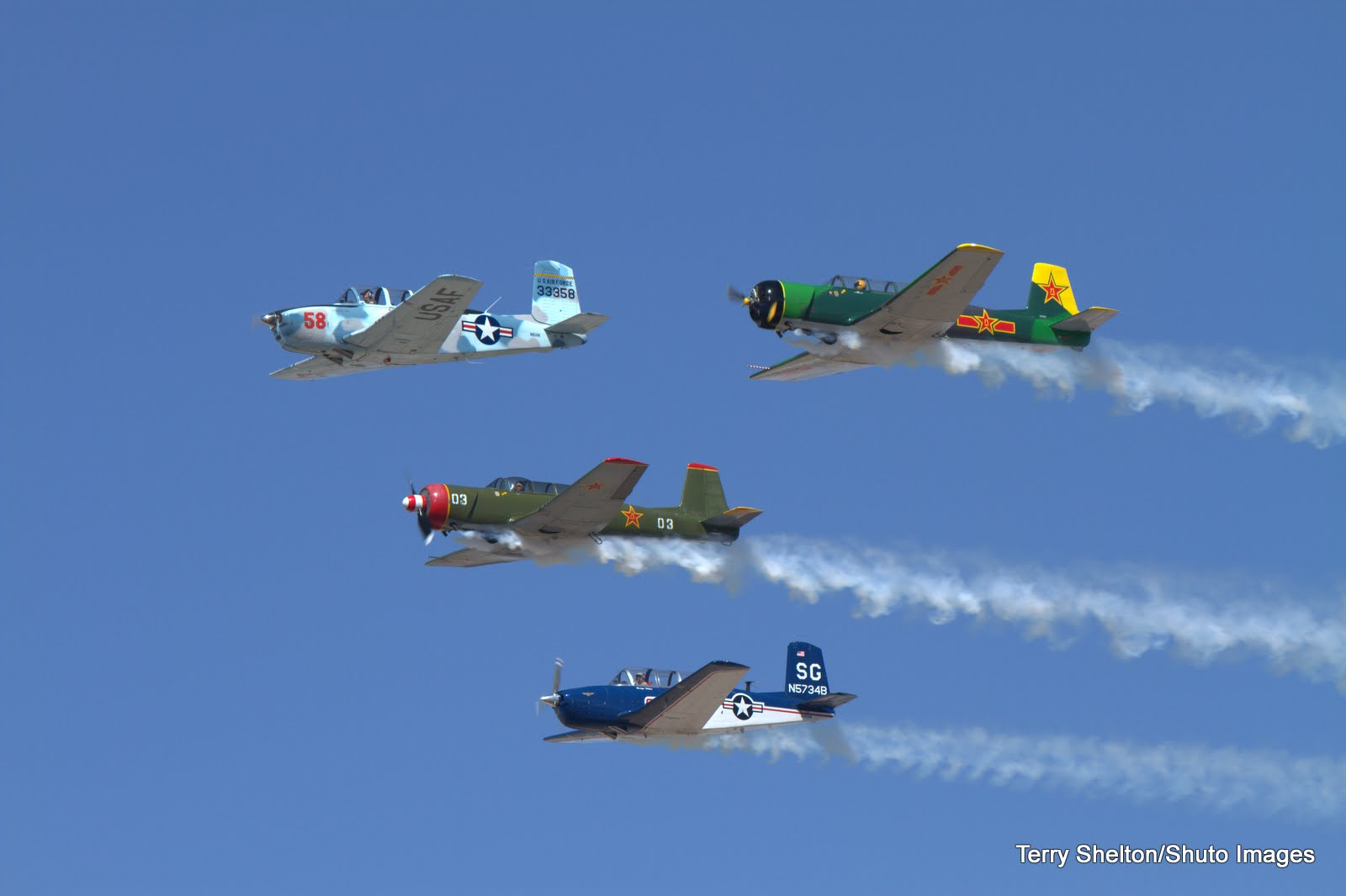 Falcon Warbirds Formation Flight