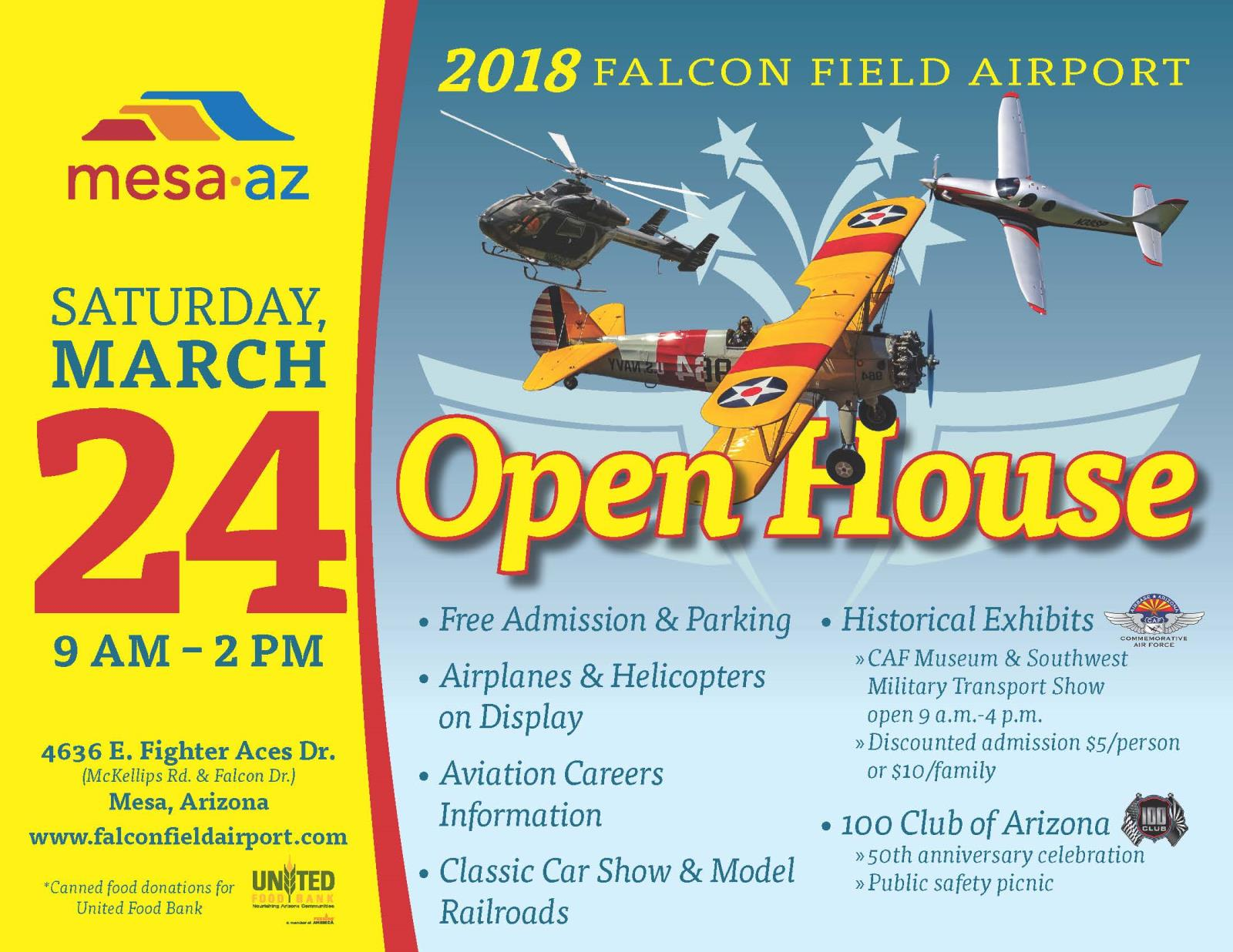 Falcon Field Open House Flyer, Open House, Airport Open House