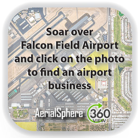 airport map tool, business location tool, aerial map, business locator