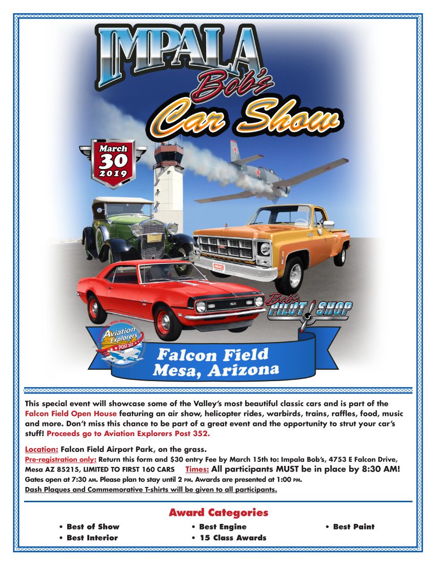 Car Show Flyer Falcon Field 2019