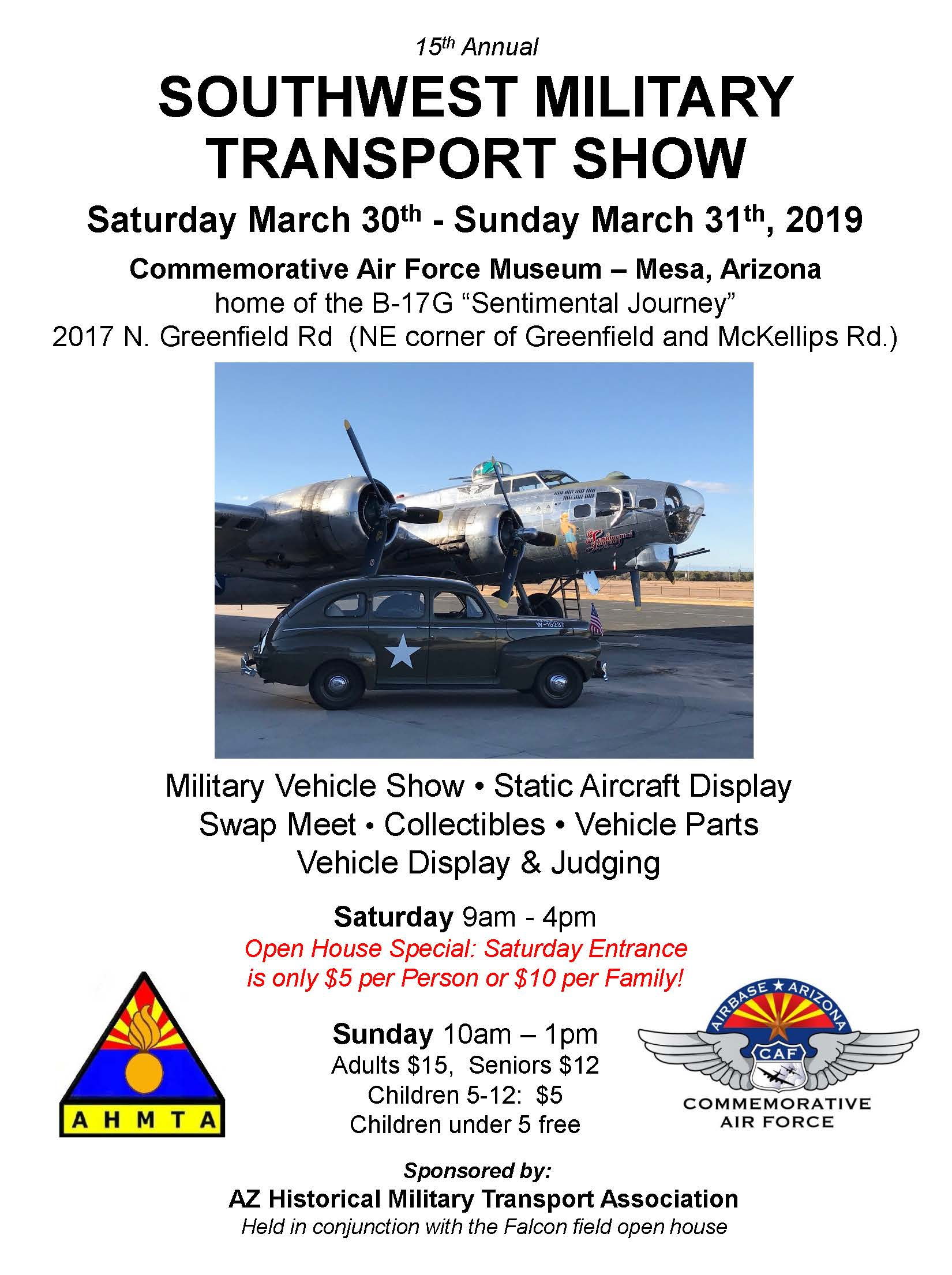 Southwest Military Transport Show Flyer 2019